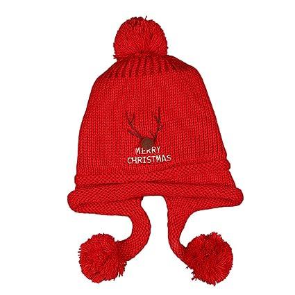 7e652b2e9d83 YeahiBaby Chapeau en tricot en laine Chapeau Bonnet en érable en érable  Boucles d oreilles