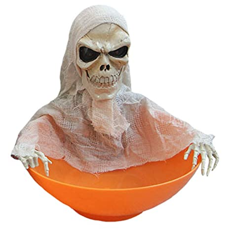 Amazon Com Halloween Decoration Ghost Candy Bowl Haunted