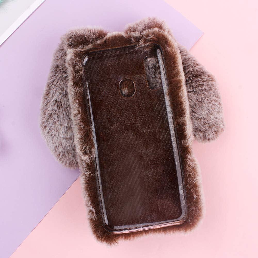 SEEYA Pl/üsch H/ülle f/ür Huawei P Smart 2019 Kunstpelz Flauschig Flaumig Kleine Hase Ohren Warm H/üllen Weich Silikon TPU R/ückseite Case Cover Handyh/ülle Schwarz f/ür Huawei P Smart 2019