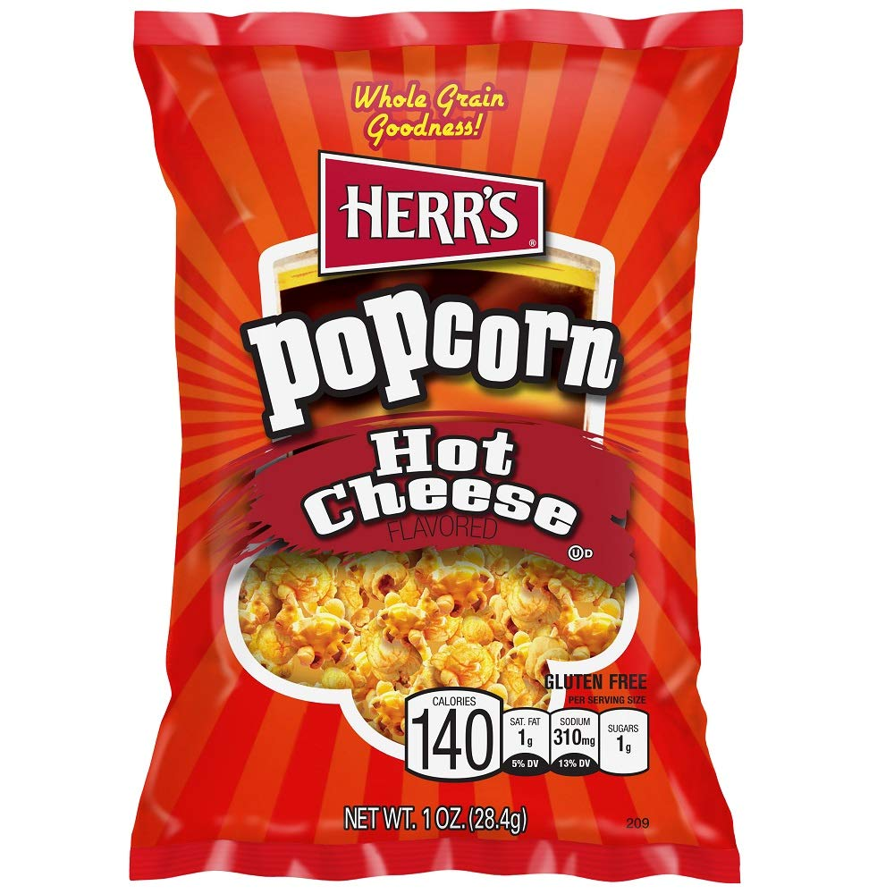 Herr's Popcorn Hot Cheese 1 Oz (Pack of 30)