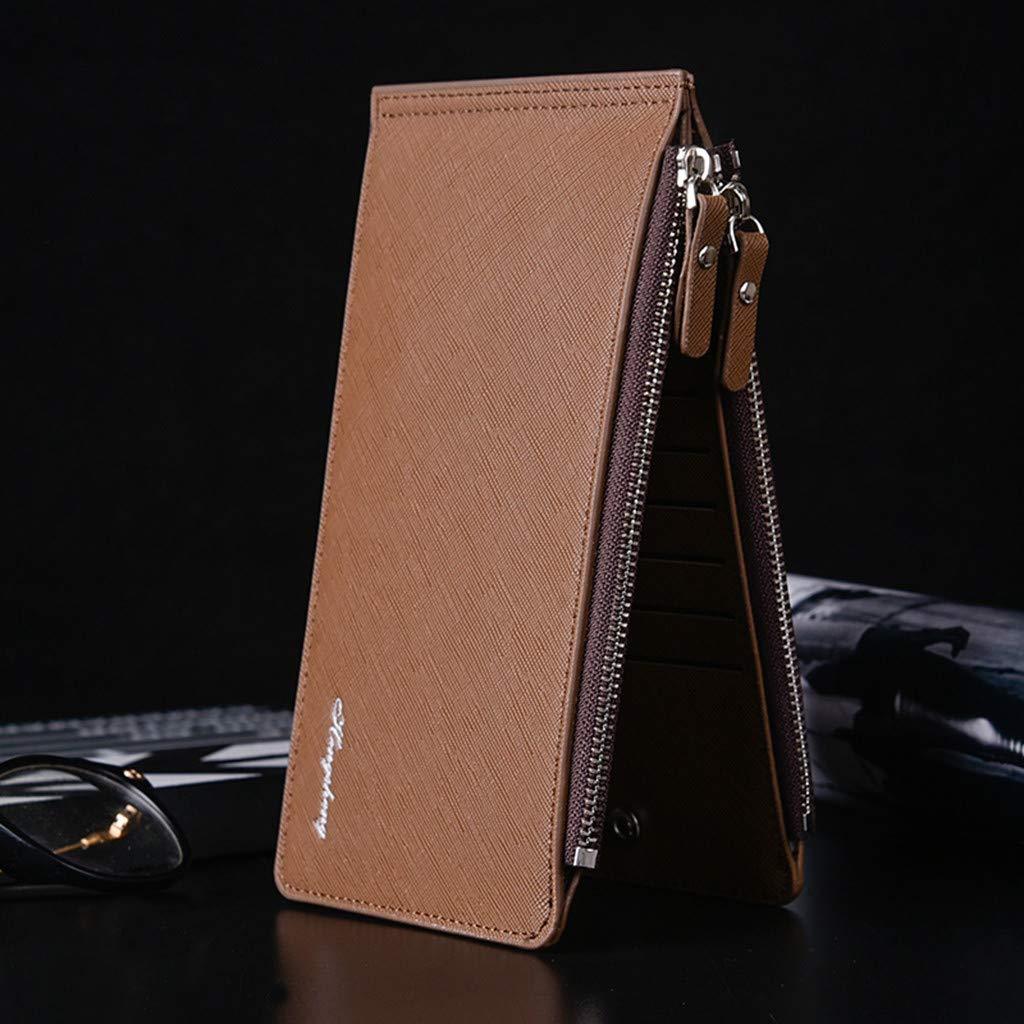 Crossbody Bag For Men Large Capacity 16 Slots Card Holders Leather Wallet Cash Coin Pocket