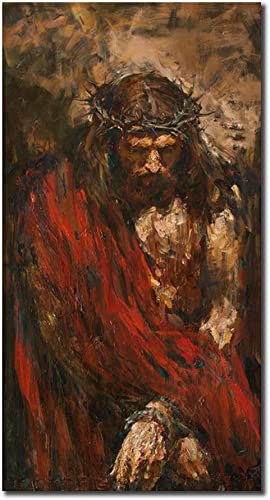 Abstract Canvas Prints Jesus Christ Wall Art Photos of Oil Painting Retro Vintage Christian Religion Wooden Modern Home Decor Poster