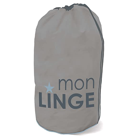 Kiabi Sac A Linge Baluchon Gris Tu Amazon Fr Vetements Et