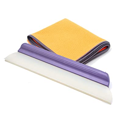Water Blade Patented Y-Bar Bundle, 14 Inch with X-Large Microfiber Towel, Purple Handle: Automotive