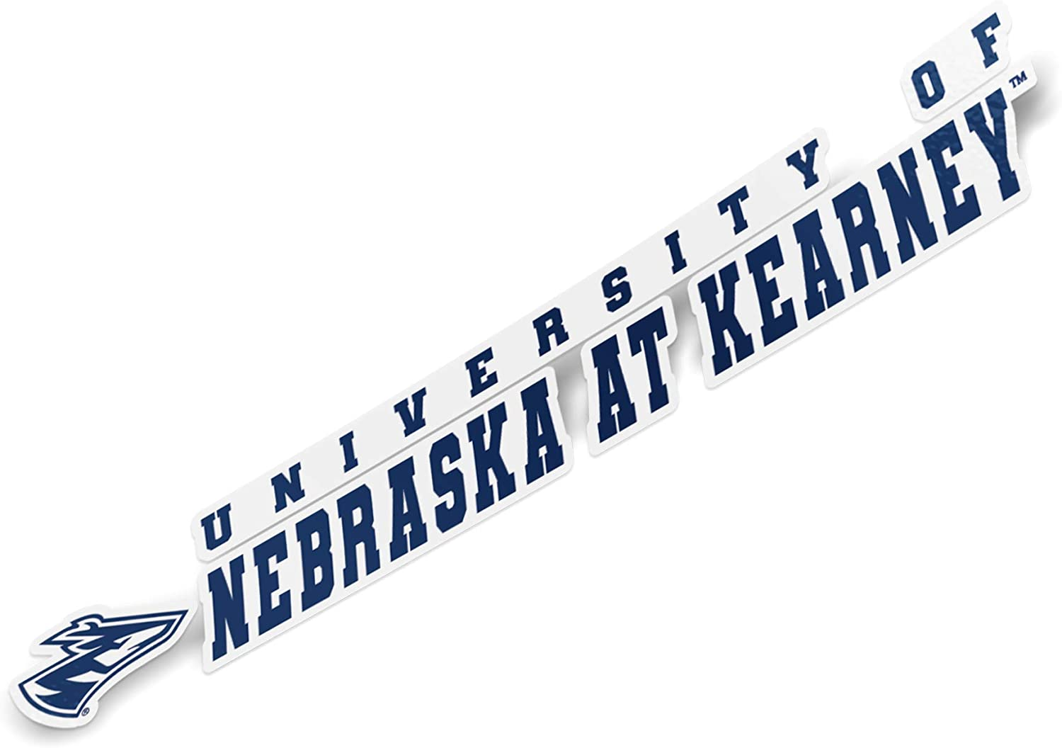 University of Nebraska at Kearney UNK Lopers NCAA Name Logo Vinyl Decal Laptop Water Bottle Car Scrapbook (8 Inch Sticker)