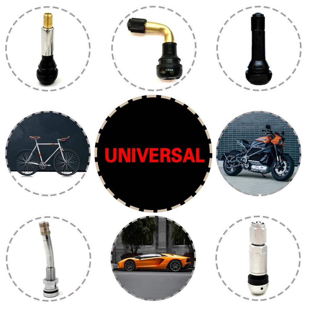 Motorcycles Trucks.(16 Pack) PJLJY Tire Valve Caps Black Silvery Aluminum Alloy 、Waterproof and Dustproof 、Airtight Leakproof 、Easy Install 、Screw-On Valve stem caps Universal for Cars Bicycles
