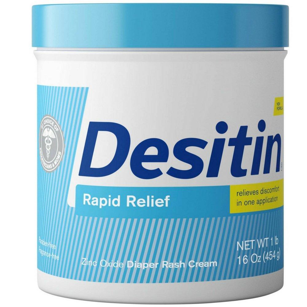 DESITIN Rapid Relief Diaper Rash Cream 16 oz (Pack of 2) by Desitin