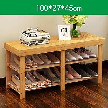 XIEJIAGX Zapatero de bambú para Entrada, Zapatero, Banco, Organizador de Zapatos, Entrada y Pasillo con Estante Organizador para Zapatos: Amazon.es: Juguetes y juegos