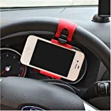 Car Steering Wheel Clip Mount Holder Universal for Smartphone iPhone 5 5S 6 HTC