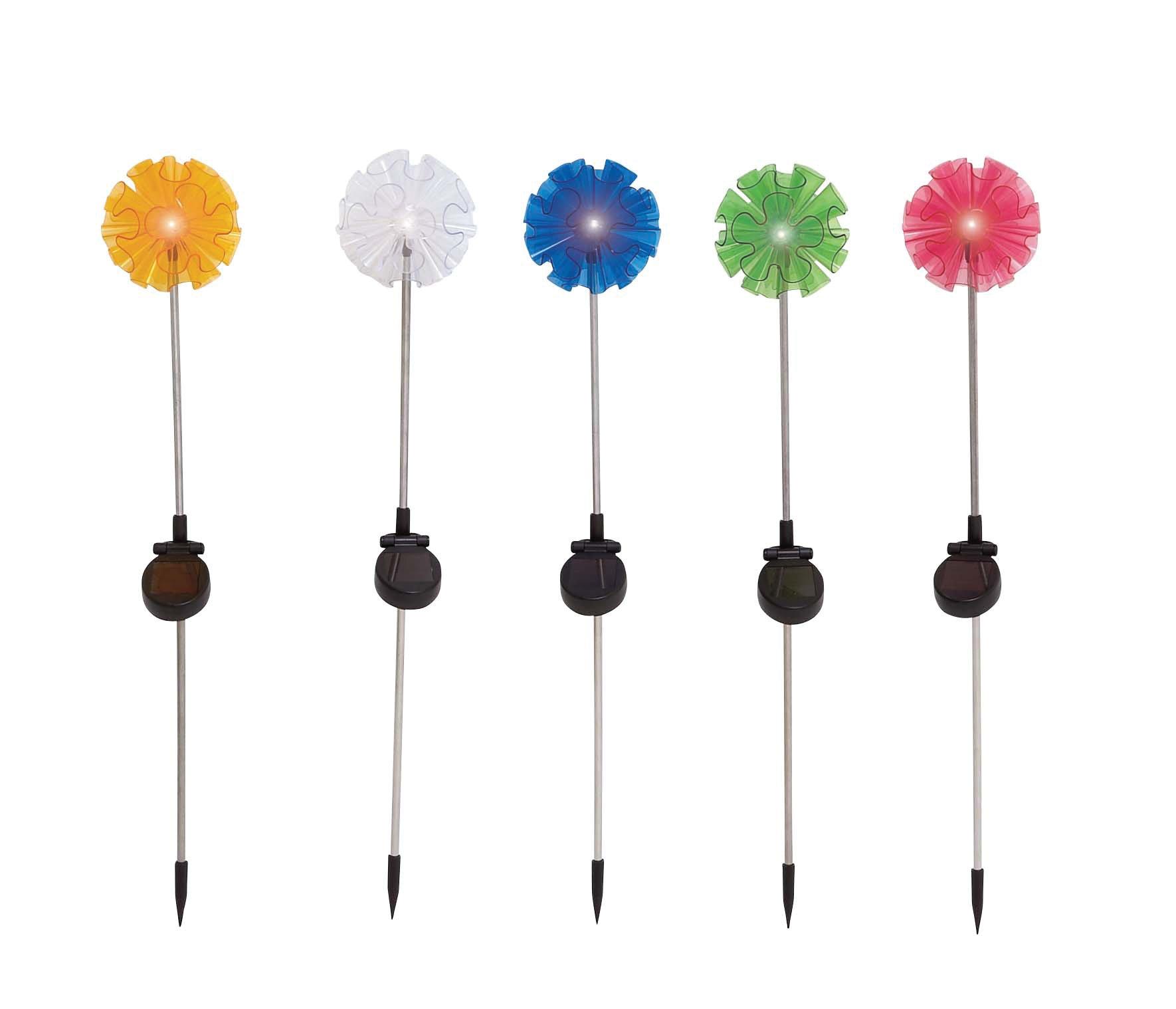 Plutus Brands The Flowery Metal Solar Garden Stake 5