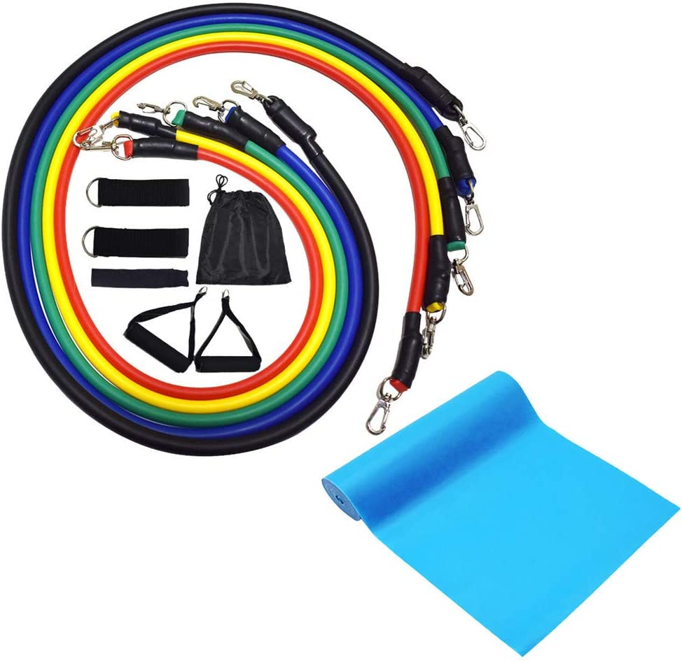 【2020 Upgraded】 Resistance Bands 12pcs / Satz with Handles, Door Anchor, Ankle Straps and Workout Guide - MINGLIFE Exercise Bands for Männer Women Resistance Training, Zuhause Workouts (Multicolor)