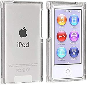 BestforYou New iPod Nano 7 8 Case, Crystal Clear Transparent Full Hard Cover Case for Apple iPod Nano 7 7th Gen 8 8th Generation (Clear)