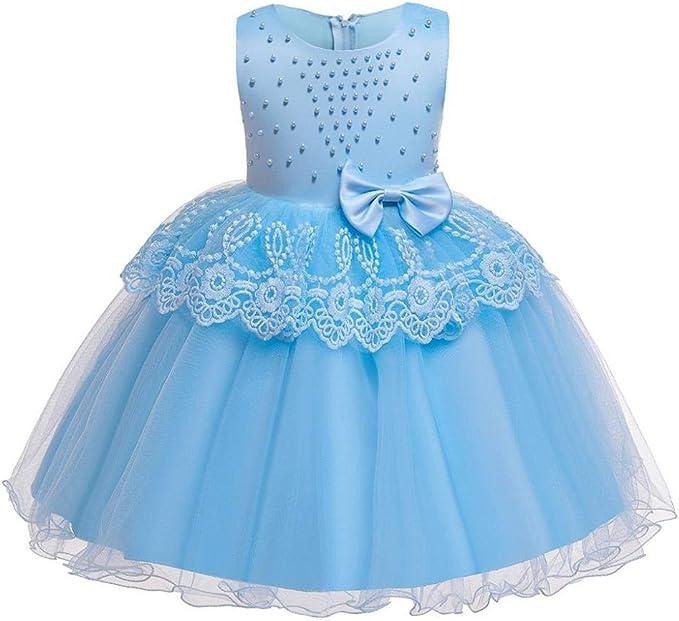 VJGOAL Vestido de Princesa para niña Vestido sin Mangas para ...