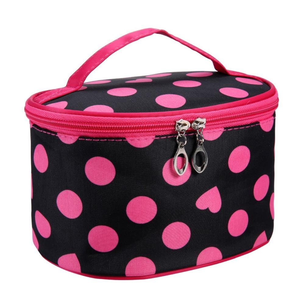 BEAUTYVAN Cosmetic Bag, Fashion Leopard Print Cosmetic Bags Women Travel Makeup Bag Make Up Bags (D)