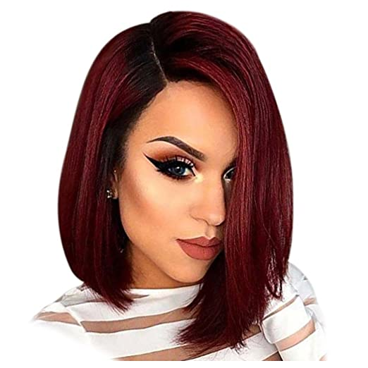 Inkach Lace Front Wigs for Womens - Straight Long Hair Wigs Synthetic Heat  Resistant Wig ( 0316ff4a5f