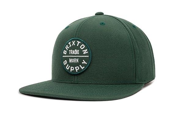057a78e996df5 Amazon.com: Brixton Men's Oath III Medium Profile Adjustable Snapback HAT,  Chive/White, O/S: Clothing