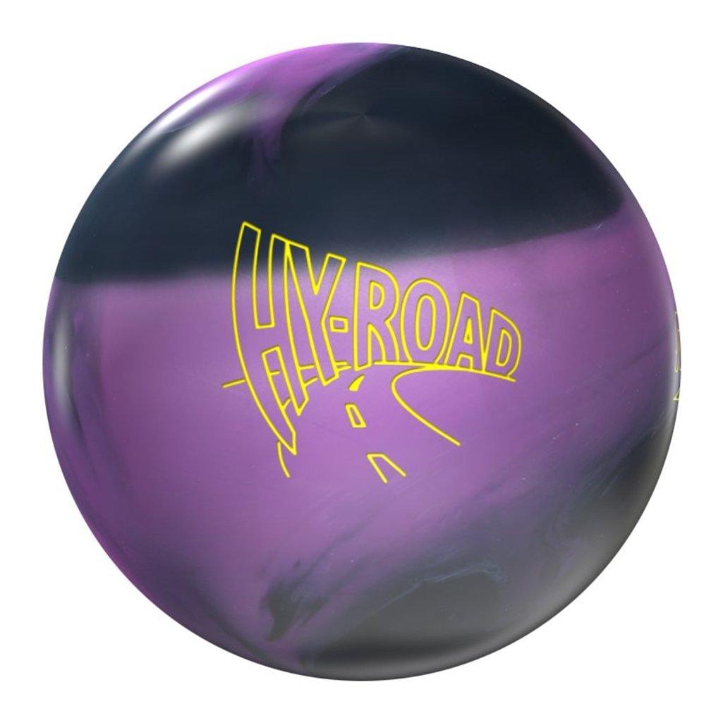 嵐hy-road Nano Bowling ball-ブラック/パープル B076KJCQX1 15lbs