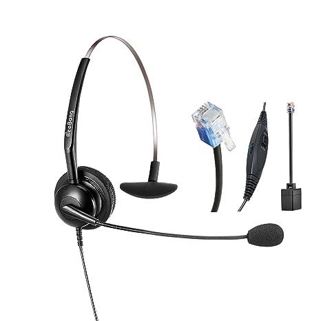 Cuffia telefonica Mono RJ9 Headset Call Center con microfono per  annullamento rumore per Cisco Yealink Snom dd7bd19d50e0