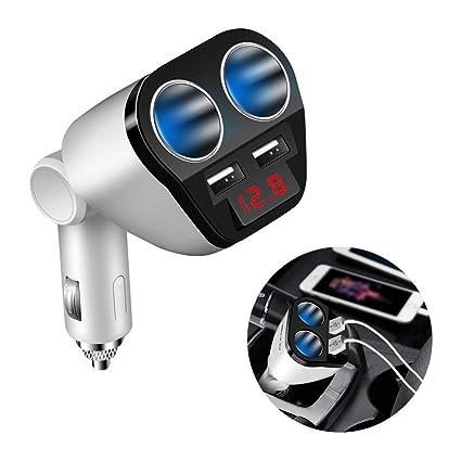 Folconroad TQ0091 - Adaptador de Cargador de Coche USB Dual ...