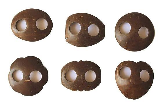 Mango Gifts Sarong Pareo - Juego de 4 Hebillas de Coco, Color ...