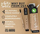 Biodegradable Toothbrush, Family Pack of 4, Great For Toddlers, Kids & Adults. All Natural Bamboo Handle & Charcoal Bristles BPA Free, No Toxic Plastics, Decomposes In Months, Best Teeth Whitening