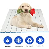 RIOGOO Pet Cooling Pad, Self Dog Cooling Indoor. Aluminum Alloy Foldable Cooling Mat for Dogs and Cats