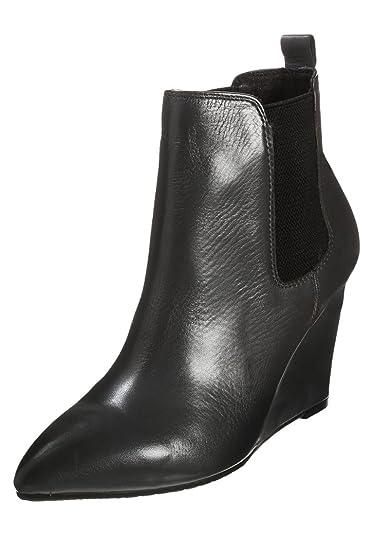 Stiefel Schwarz Gr Piu Ankle Senza Mai Boot Black Leder XkiuOPZ