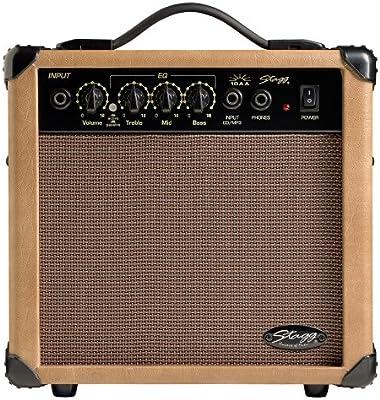 Stagg 15 AA DRUK 15 RMS W 15W Amplificador de guitarra acústica ...