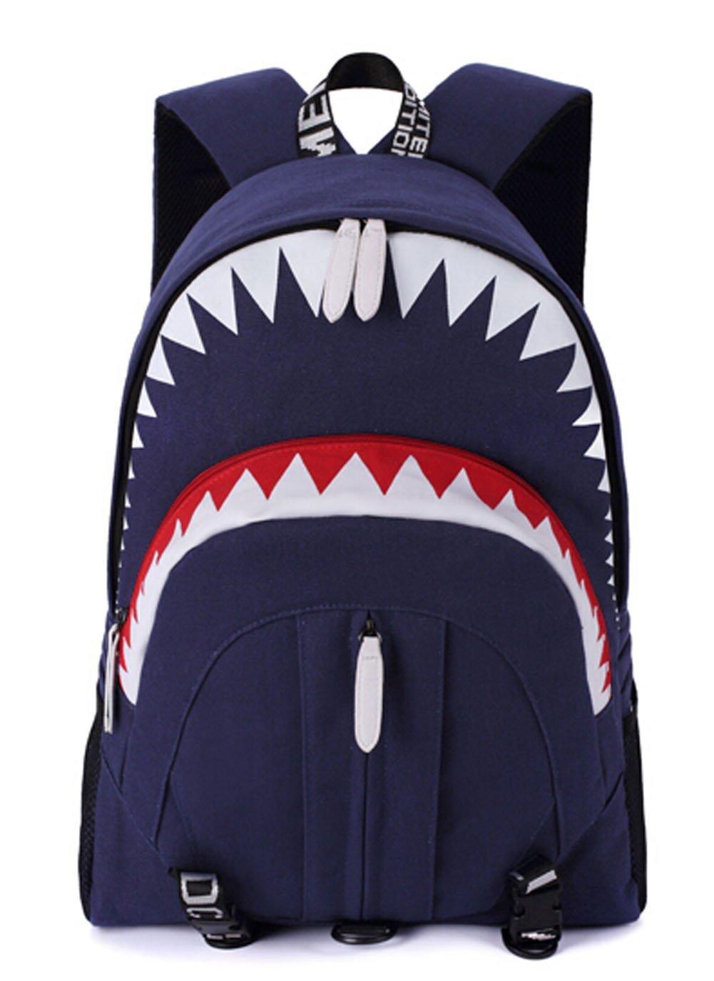 Unisex Persönlichkeit Sharks Sharks Sharks Stil Knapsack Segeltuch-Schule-Beutel-Spielraum beiläufige Rucksäcke B01FAFQQC0 | Günstigen Preis  661388