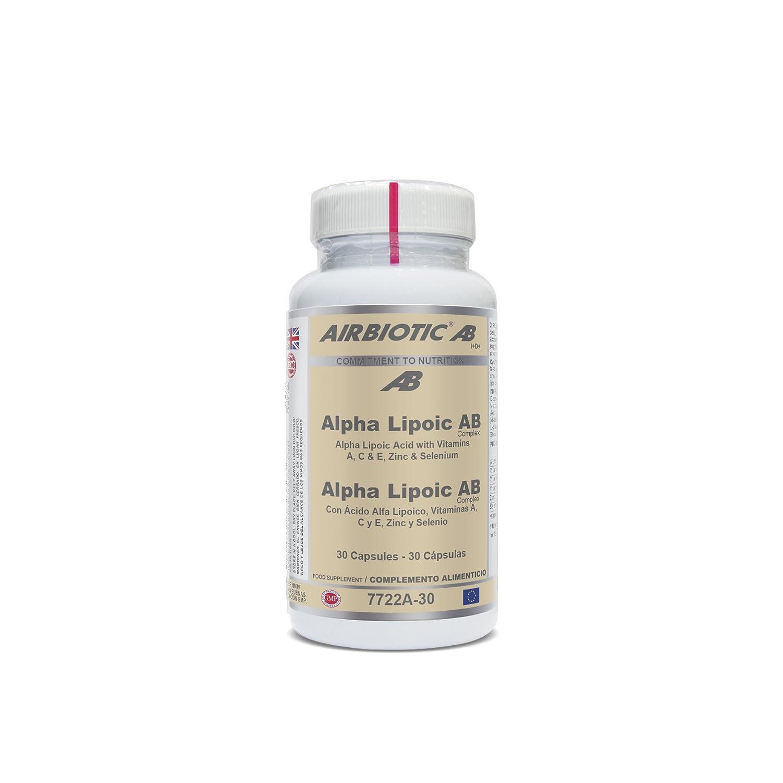 Airbiotic AB - Alpha Lipoico AB Complex - 60 cápsulas: Amazon.es ...