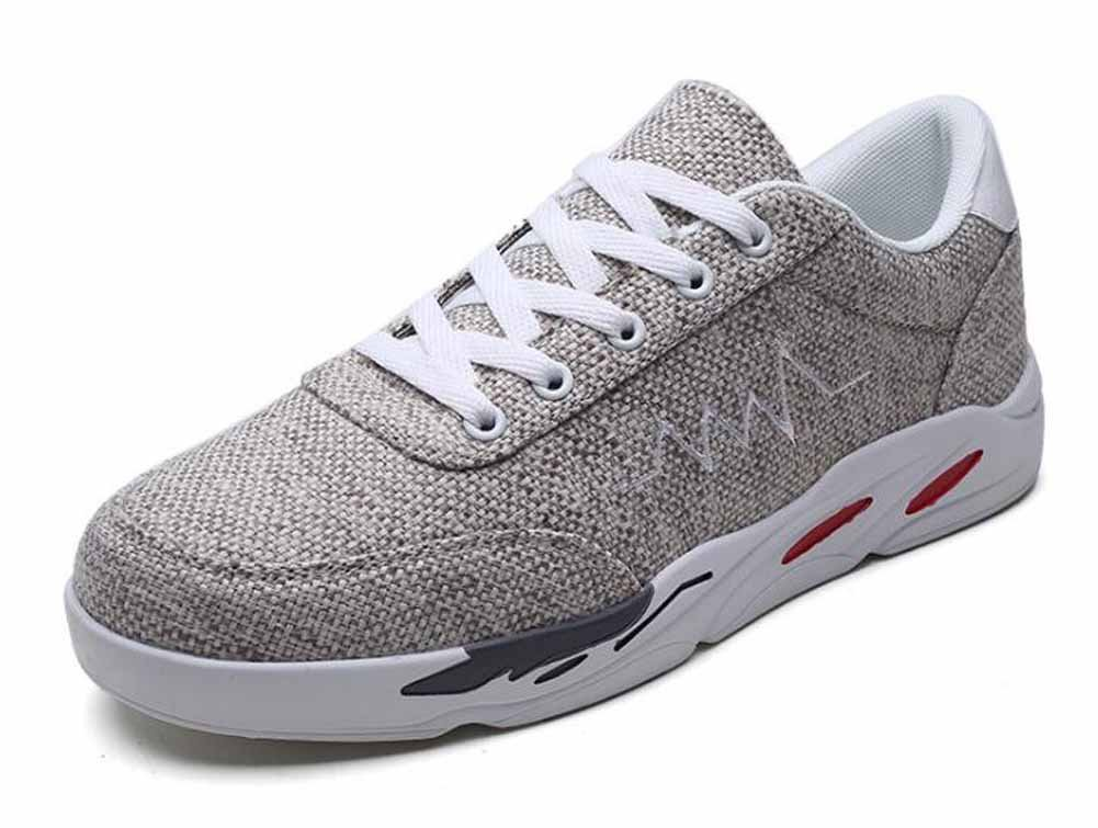 GLSHI Hombres Entrenadores, Zapatos Planos Casuales Lienzo Ligero Zapatillas Aire Deportivas Zapatillas para Correr Al Aire Zapatillas Libre (Color : Marrón, tamaño : 39) afa4fe