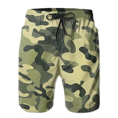 64b9e641f8 NSYUR Men's Multi-Color Camouflage Summer Holiday Quick-Drying Swim ...