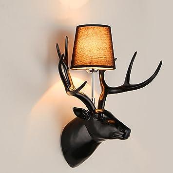 AMZH American Country Antlers Wandleuchte Modern Minimalist Creative ...