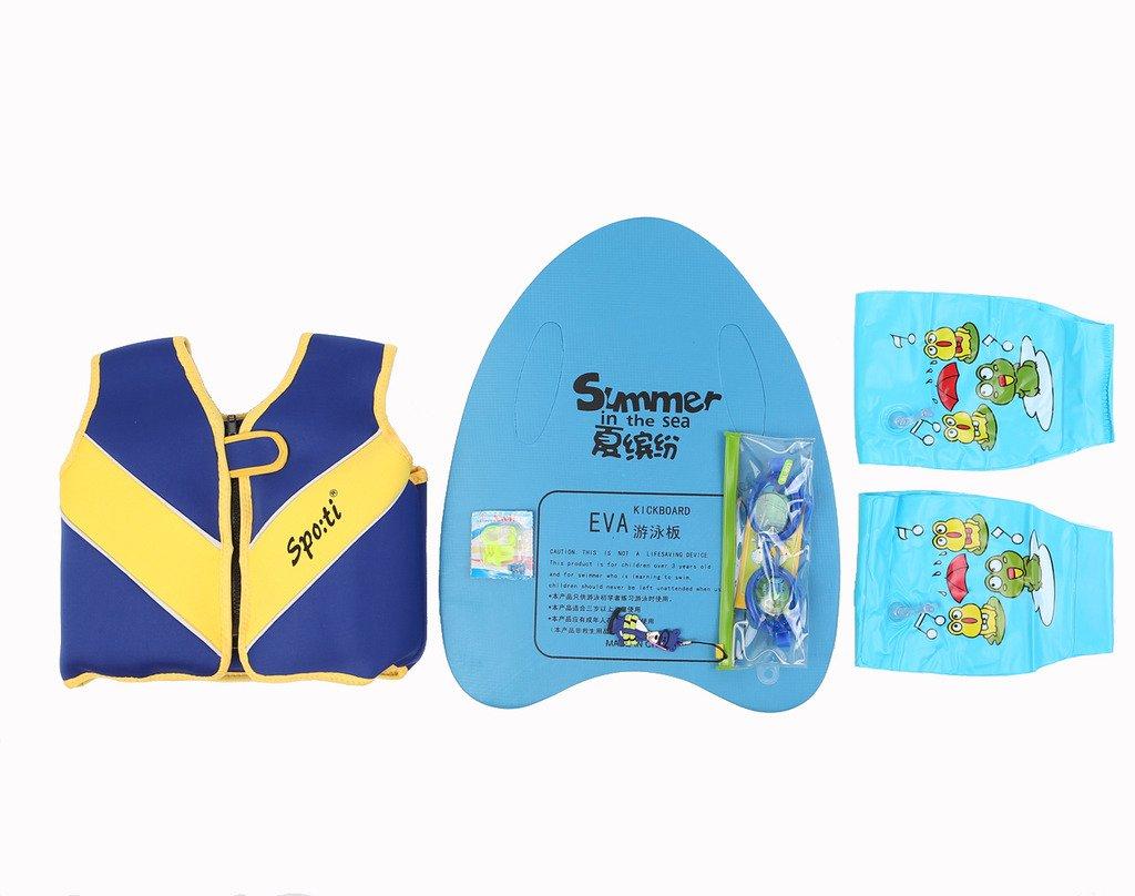 正規品 GenwissベビーブルーライフジャケットFloat Arms 18 months-7年& Swimboard Swimboard &水泳ゴーグルと水泳鼻Swim Arms Small ブルー ブルー B0150EZ2EO, パンプスとブーツ専門店 NOTGiulia:c31b6bd9 --- 4x4.lt