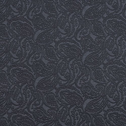 E574 Blue Paisley Jacquard Woven Upholstery Grade Fabric by The Yard ()