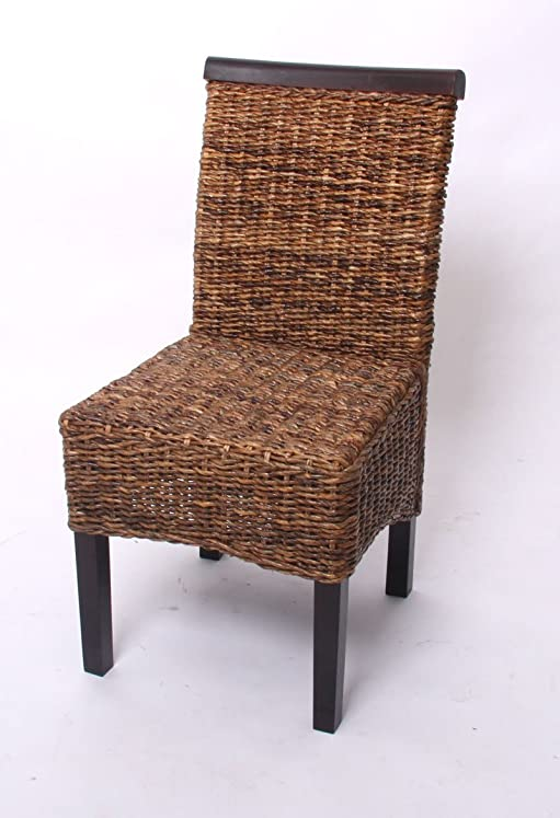 Set 6x sedie M45 intreccio di banano gambe scure 96x46x55cm ...