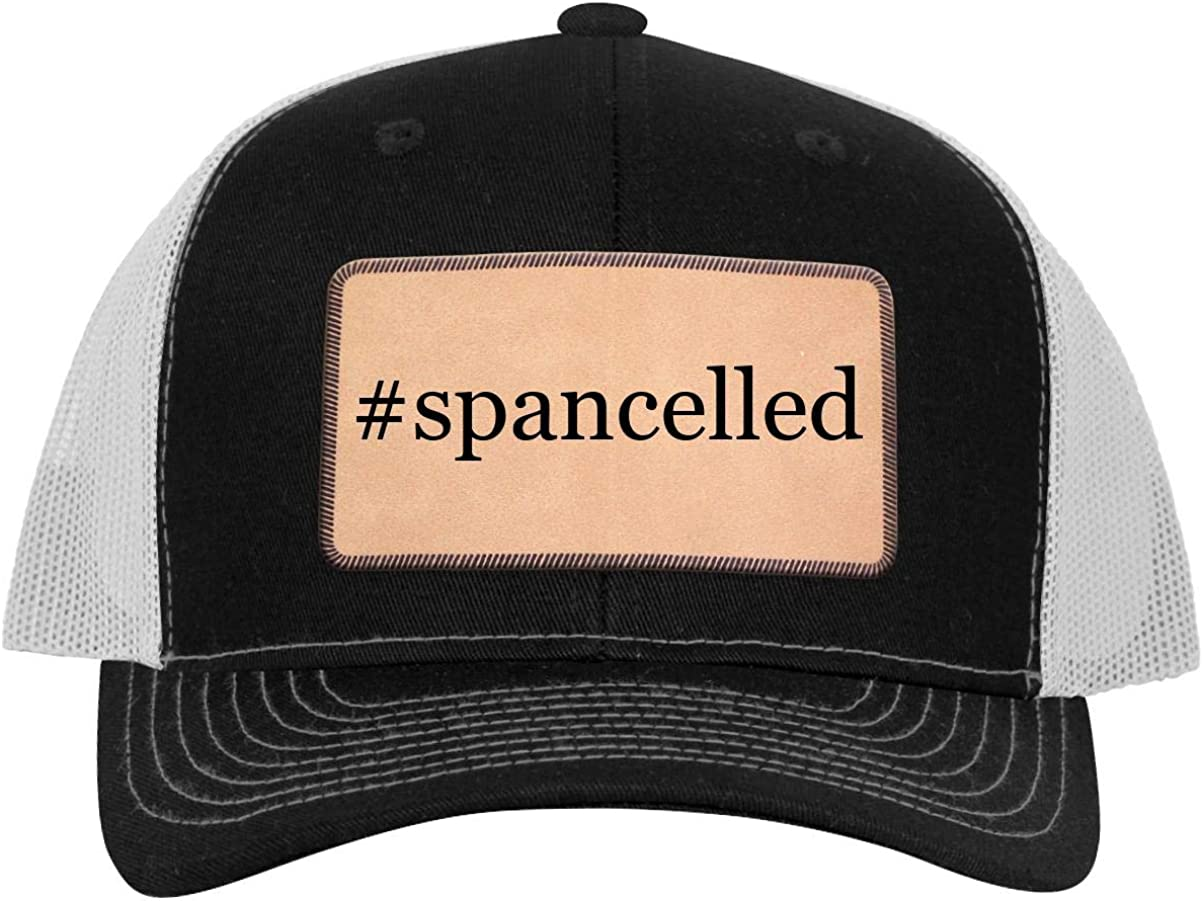 One Legging it Around Tiddy Beer Weird Spancelled Leather Light Brown Patch Engraved Trucker Hat