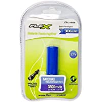 Bateria Recarregável 3,7V 3800MAH Lithium, Flex, FX-L1865, Azul