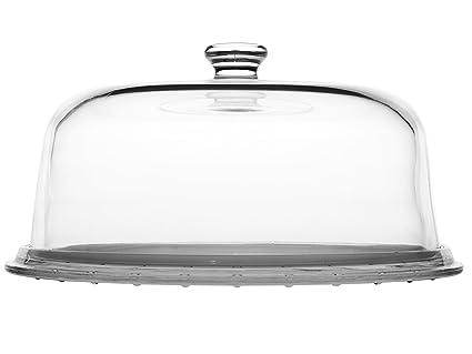 BORGONOVO Plato Tarta Cristal con Tapa Molde Palladio cm 31 para Alimentos Lavables en lavavajillas Cristal