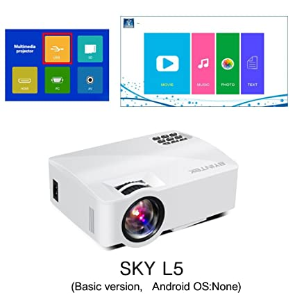 Amazon.com: BYINTEK SKY L5 Mini LED Portable Video Projector ...