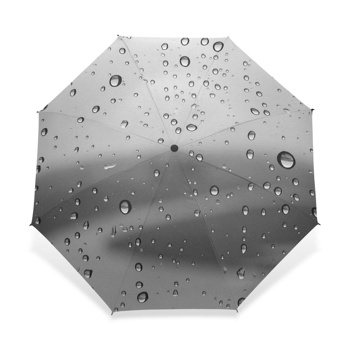 baihuishop防風ゴルフ傘、コンパクトで旅行for Easy Carryingスポーツ雨傘 – 強力なフレームUnbreakable Water Dropsパターンパターン   B01FQJICCW