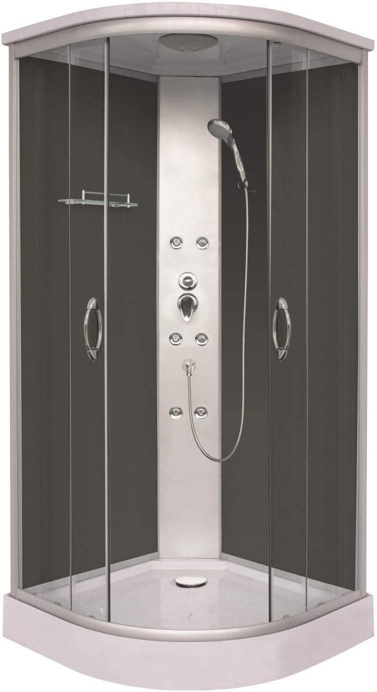 Box ducha hidromasaje semicircular 6 chorros 90 x 90 x 209 cm Werner punto N cl07: Amazon.es: Hogar