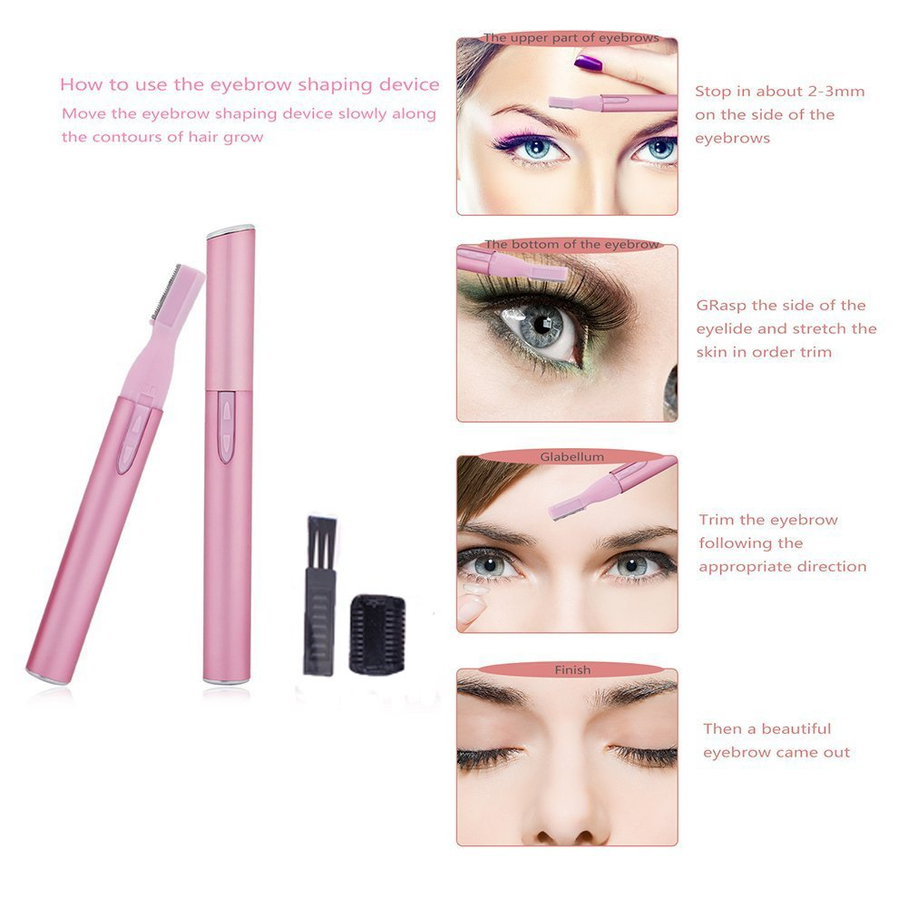 Funwill Electric Lady Trimmer Eyebrow Hair Trimmer Nose Body Facial