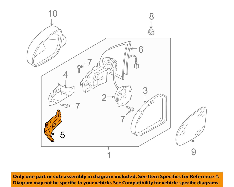 amazon com: 2006-2010 vw volkswagen jetta left driver side door mirror turn  signal oem new 1k5-949-101: automotive