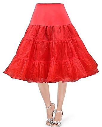 f205b8edc631 promdressesol 50s Vintage Rockabilly Petticoat Skirt, 26
