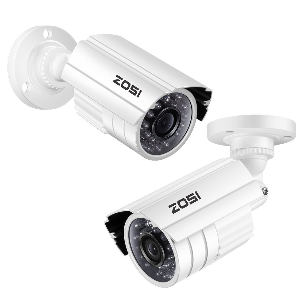 ZOSI 720P HD-TVI Home Surveillance Camera System,4PCS Indoor/Outdoor Weatherproof Security CCTV Camera with Infrared and Night Vision by ZOSI (Image #6)