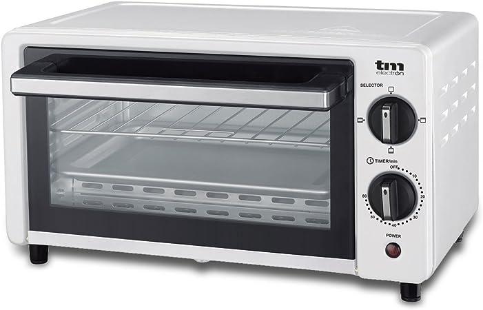 TM Electron TMPHO001WH mini horno tostador 800W, 10L de capacidad, 3 modos de calentamiento, blanco: Amazon.es: Hogar