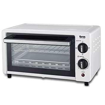 TM Electron TMPHO001WH mini horno tostador 800W, 10L de capacidad, 3 modos de calentamiento
