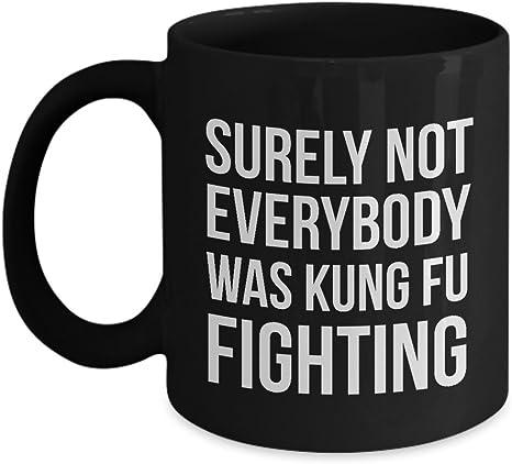 Sarcastic Gifts Mug Funny Sayings Mug Surely Not Everybody Was Kung Fu Fighting
