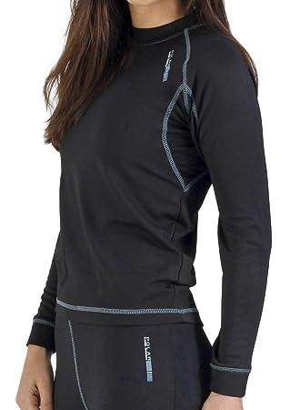 Camiseta térmica para mujer de manga larga, ideal para deportes de invierno o situaciones de